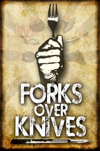 "Forks Over Knives (2011) is an American advocacy film that advocates a low-fat, whole-food, plant-based diet as a way to avoid or reverse several chronic diseases. The film recommends a ""whole foods plant-based"" diet and stresses that processed foods and all oils should be avoided."