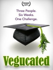 "Vegucated is a 2011 American documentary film that explores the challenges of converting to a vegan diet. It ""follows three meat- and cheese-loving New Yorkers who agree to adopt a vegan diet for six weeks."