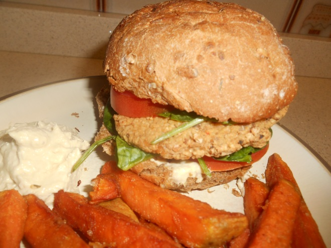 Chickpea burger & Chips
